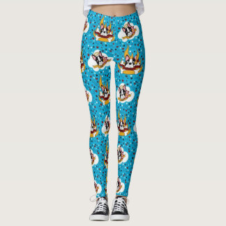 Devil or Angel Boston Terrier Leggings