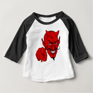 Devil Pointing Cartoon Character Baby T-Shirt