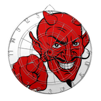 Devil Pointing Cartoon Character Dartboard