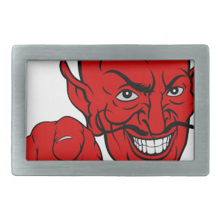 Devil Pointing Cartoon Character Rectangular Belt Buckles