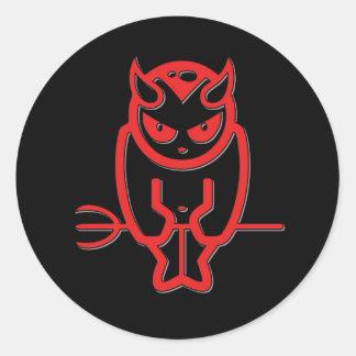 Devil Round Sticker