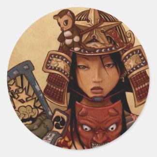 Devil Samurai Girl Sticker