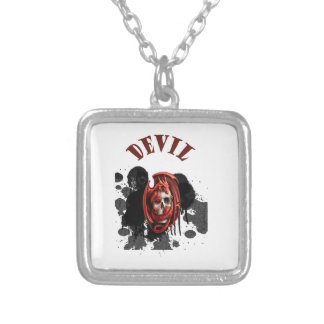 Devil Skull Red Color Custom Necklace