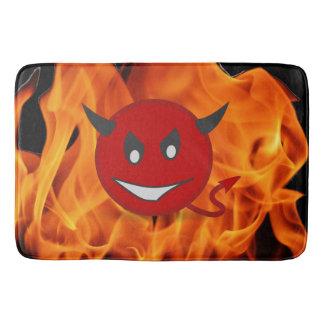 Devil smiley bath mat