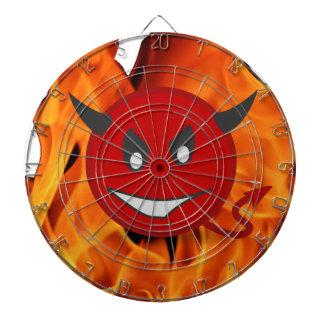 Devil smiley dartboard