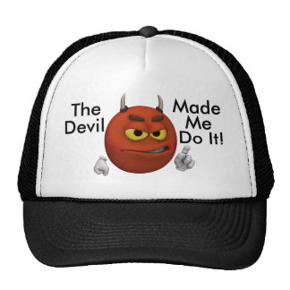 Devil Smiley Guy Trucker Hat