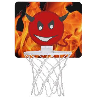 Devil smiley mini basketball hoop