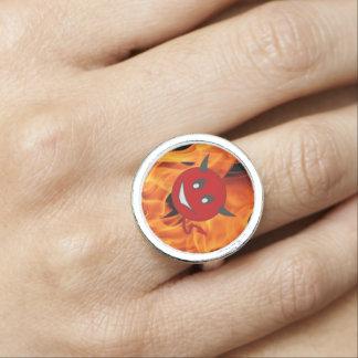 Devil smiley rings