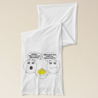 Deviled Eggs Humor Cartoon Scarf