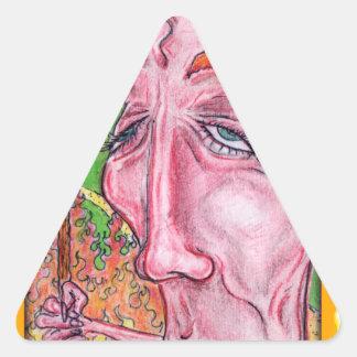 Devilish Art by TEO Triangle Sticker