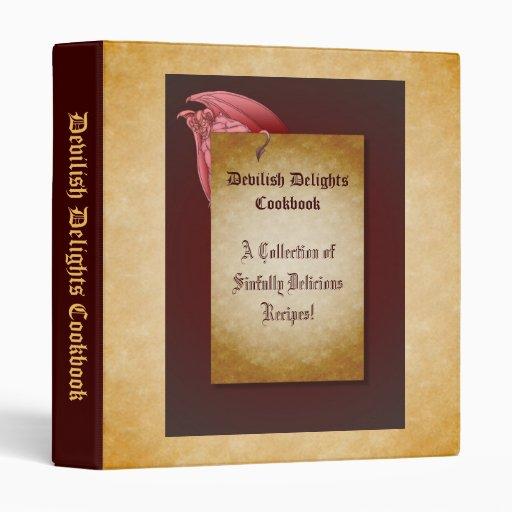Devilish Delights Halloween Recipe Cookbook Binder