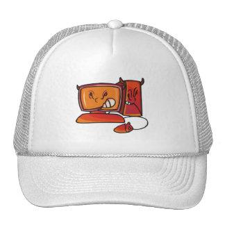 devilish desktop computer mesh hats