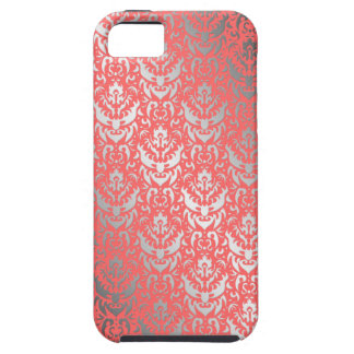 Devilish Shimmering Silver Peach Faux Finish iPhone 5 Case