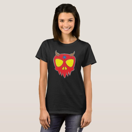 Devilish Skull Design T-Shirt