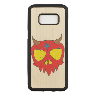 Devilish Skull Illustration Carved Samsung Galaxy S8 Case