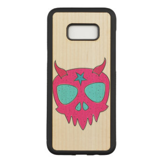 Devilish Skull (pink) Carved Samsung Galaxy S8+ Case