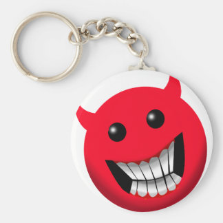 Devilish Smile Basic Round Button Keychain