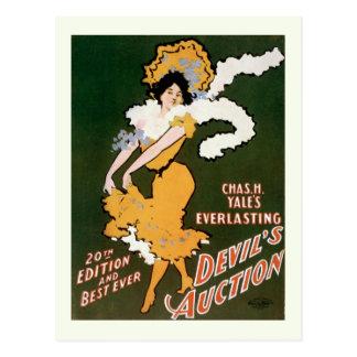 """""""Devil's Auction"""" Vintage Theater Postcard"""