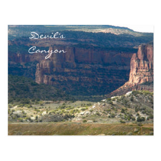 Devil's Canyon, Fruita, Colorado Postcard