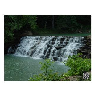 Devil's Den, Arkansas Waterfall Postcard