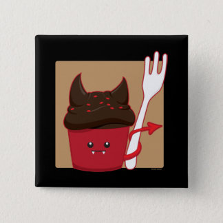Devils Food Cupcake 2 Inch Square Button