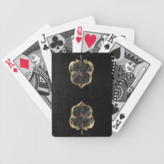 Devil's Harp and Black Leather Bicycle Cards! Bicycle Playing Cards