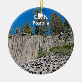 Devil's Postpile Ceramic Ornament