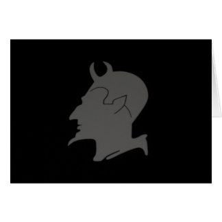 Devil's Profile - Greeting & Note Card