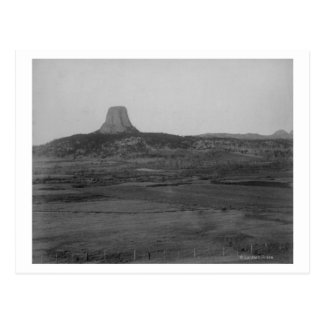 Devil's Tower 2 Miles Distant with Ranch in the Postcard