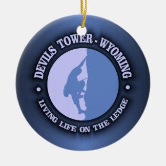 Devils Tower Ceramic Ornament