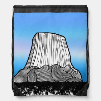 Devil's Tower Drawstring Bag