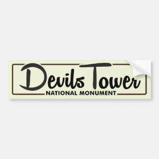 Devils Tower National Monument Bumper Sticker