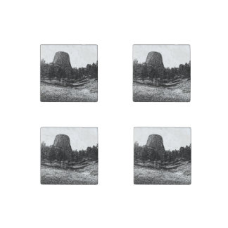 Devils Tower National Monument Stone Magnets