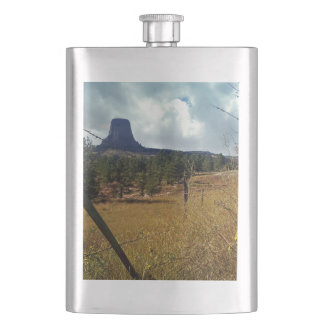 Devils Tower National Monument Wyoming Hip Flask