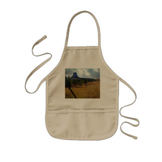 Devils Tower National Monument Wyoming Kids Apron