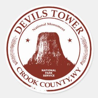 Devils Tower Round Sticker