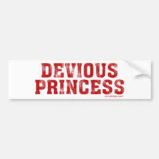 Devious Princess Bumper Sticker