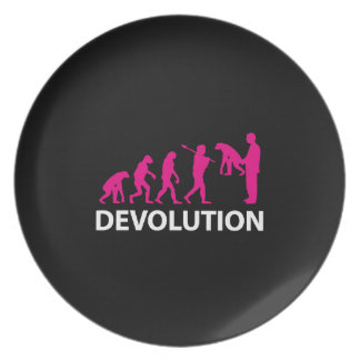Devolution Evolution Funny Reissue Plate