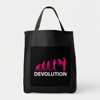 Devolution Evolution Funny Reissue Tote Bag