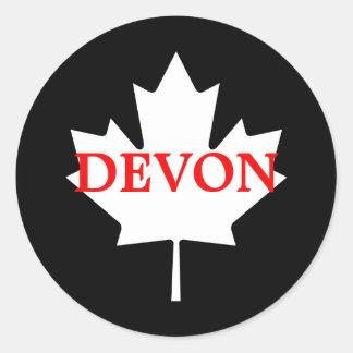 Devon Classic Round Sticker