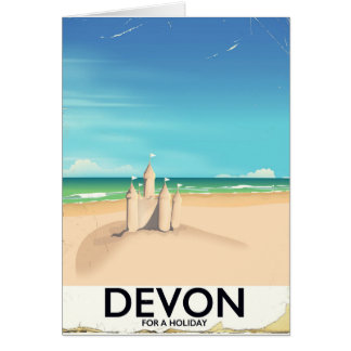 Devon, England for a holiday. Card