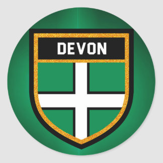 Devon Flag Classic Round Sticker