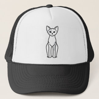 Devon Rex Cat Cartoon Trucker Hat
