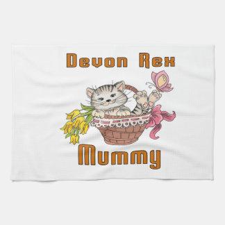 Devon Rex Cat Mom Kitchen Towel