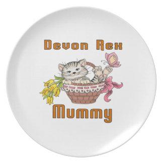 Devon Rex Cat Mom Plate