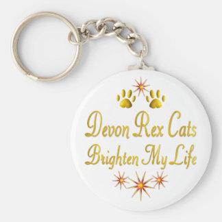Devon Rex Cats Brighten My Life Keychain