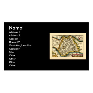 """Devonshire"" Devon County Map, England Business Card"