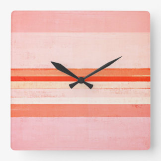 'Devoted' Pink Abstract Art Clock
