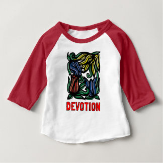 """Devotion"" Baby 3/4 Raglan T-Shirt"