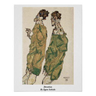 Devotion By Egon Schiele Poster